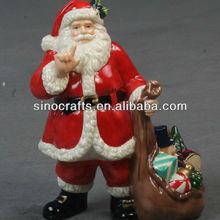 ceramic santa claus christmas ornament