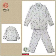 de franela de algodón pijama