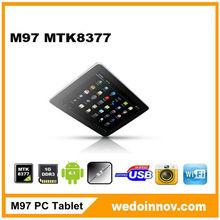 9.7inch 3G MTK6589 Cortex A9 Quad-core 1.0GHz tablet pc dual sim smart mobile phone