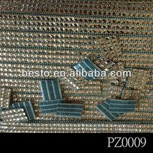 PZ0009 hot fix acrylic diamond crystal adhesive rhinestone sheets for shoes sticker