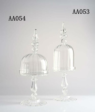Clear Mini Glass Cake Stands