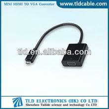 Mini HDMI Male to VGA Female Converter Made in China
