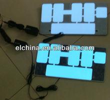 Auto flashing el backlighting