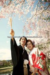 Kimono Location Photo Plan in Japan travel tour with bag