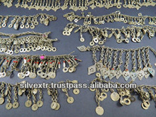 Mixed Broken Kuchi Chain Pieces KC1 Costume Jewelry Parts Gypsy Tribal Bellydance