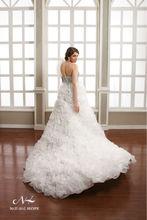 Luxury davids wedding pleated Organza Ball Gown Diamond designer bridal dress patterns
