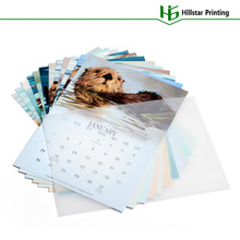 Professional Design Fashion Office and Family Loose Leaf Calender 2014