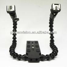 NEW Flexible Dual Mount Flash Bracket Camera flash bracket