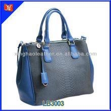 Trend 2014 ladies nice hardware popular python leather handbag,pure leather lady's handbags,handbag satchel shoulder leathe