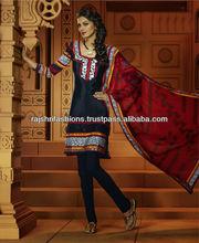 Unstitch Salwar Kameez Crepe Fabrics Salwar Suit