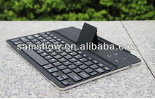 New 2013 Design with stand customised Aluminum Wireless keyboard, Bluetooth Keyboard For Ipad 2 3 4