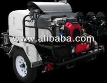 PRESSURE WASHER - ICES WATERBOSS COMPACT HOT & COLD WASH TRAILER