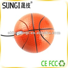 Latest hot selling funny ball shaped basketball wireless mouse