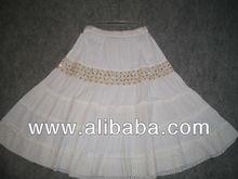 Kız ve kadın etek payetler katman bel/100% pamuk çok katmanlı kızlar giymek etekler ve kızlar için elbise