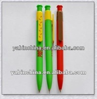 Candy Color Cartoon Promotional Advertising Ball Pen Red