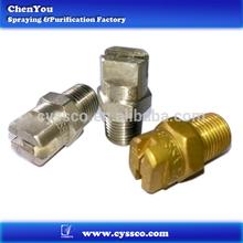 Metal flat fan nozzle,brass washing flat fan nozzles,high pressure cleaning flat fan nozzle