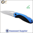 Sand Blasting Stainless Steel Blade Anodized Aluminium and ABS Handle Folding Knife/ Custom Knives Made In China