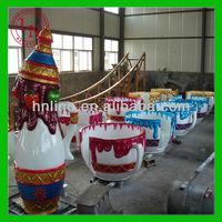 Professional coffee cup indoor amusement ride park trailer manufacturer