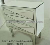 MR-401048 mirrored glass modern furniture file cabinet