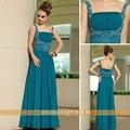 2013 venda quente boa qualidade spaghetti sexy bordado azul vestidosdedamadehonra 2013 longo