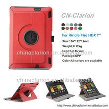 PU Case for kindle fire hdx 7, Swivel PU Hard Shell Leather Case For Kindle Fire HDX 7