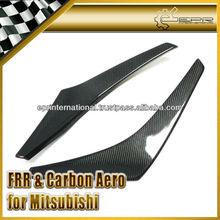 For Mitsubishi Lancer Evolution EVO 8 Varis Style Carbon Fiber Front Bumper Canard