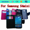 2014 news flip leather mobile phone case tpu case for samsung s4 mini
