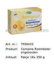 CAMPINA 250 gram UNSALTED BUTTER 82%, LACTIC (NIZO METHOD). ORIGIN: DUTCH / HOLLAND / NETHERLANDS