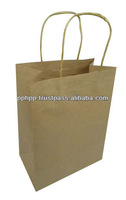 Paper Bag Twisted Handle SQ Bottom 8.5""