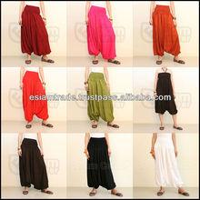 Mixed Color Rayon, Harem Pants Women Aladdin Pants