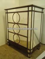 MR-401124 glass mirrored Chinese style storage chest