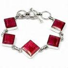 Ruby Jewelry, Ruby Silver Jewelry, 925 Sterling Silver Ruby Jewellery