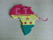 country flag shape hanging cotton paper car paper air freshner