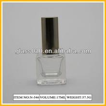 thick base square glass nail polish bottle 17ml