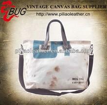 Unique hand-painted canvas and PU hand shoulder bag men and women wholesale