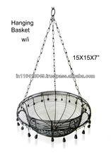 Hanging Flower Basket wrought iron