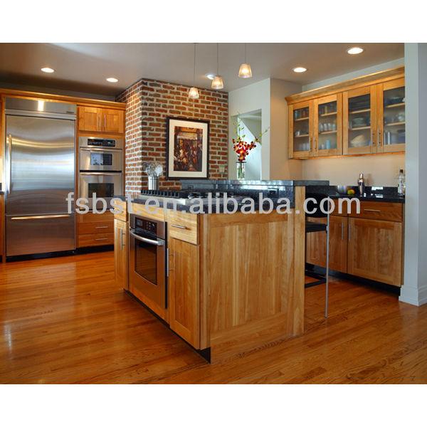 Beukenhout teak houten keuken kast met uitschuifbaar mand ontwerp ak1749 keuken kasten product - Keuken met wijnkelder ...