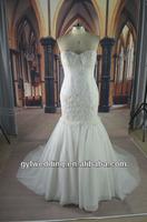 lace bridal long fastener closure mermaid lace pattern wedding dress