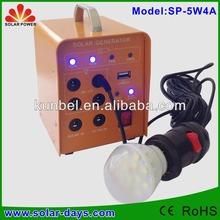 Hot Selling Low Price DC 5W mini solar light kits
