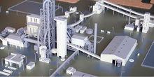Scale model of concrete factory Cemex