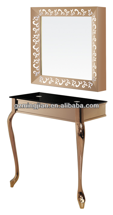 salon mirrors with lights salon hairdressing mirror station with. Black Bedroom Furniture Sets. Home Design Ideas