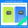 RS 232 Communication Port 12V/24V/48V 50A High Conversion Effeciency MPPT Controller