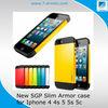 For iphone5 Spigen SGP slim armor case for Iphone 5 5s 5C 4 4s,Defender hybird SGP slim armor case for iphone/samsung!