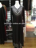 NY214 dubai abaya stone designs abaya