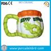 orange ceramic halloween mug for halloween gift