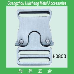 Fashion metal logo side release buckle