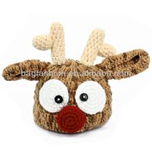 Infant Toddler Deer Pattern Handmade Crochet Knit Beanie Hat