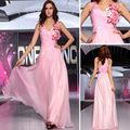 Dorisqueen apuramento venda barato 2014 nova moda best-seller formal figura cheia longa de vestido rosa 30709