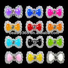 White Acrylic Nail Decoration Cute Bowknot Bow Tie 3D Nail Art Tips Nail Decoration