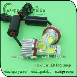 High power Auto lamp H8 7.5w fog lamp light led car